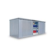 Materiaalcontainer MC 1600, gegalvaniseerd, gemonteerd, met houten bodem