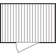 Materiaalcontainer mod. 1320, verzinkt, ongemonteerd