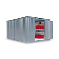 Materiaalcontainer Mod. 1340, verzinkt, ongem., met houten vloer