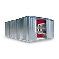 Materiaalcontainer model 1360, gegalvaniseerd, gemonteerd, met houten bodem