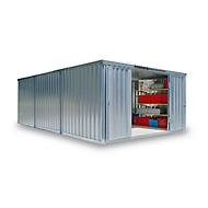 Materiaalcontainer model 1460, gegalvaniseerd, gemonteerd, met houten bodem