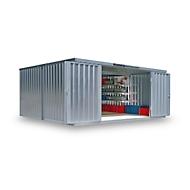 Materiaalcontainer model 1540, gegalvaniseerd, ongemonteerd, zonder bodem