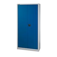 Materiaalkast MS 2509, B 950 x D 500 x H 1935 mm, lichtgrijs/gentiaanblauw