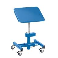Materiaalstandaard, verrijdbaar, handmatig in hoogte verstelbaar 510 - 700 mm, kantelbaar platform