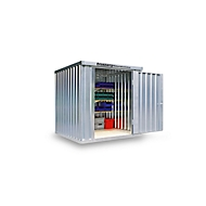 Materialcontainer MC 1200, verzinkt, montiert, mit Holzfußboden