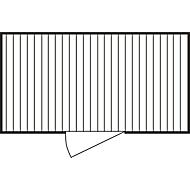 Materialcontainer MC 1400, lackiert, montiert, mit Holzfußboden