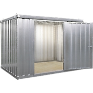 Materialcontainer MC 1400, verzinkt, montiert, mit Holzfußboden