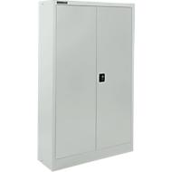 Materialschrank SSI Schäfer MSI 16408 , B 800 x T 400 x H 1535 mm, 3 Böden, Stahl, lichtgrau RAL 7035