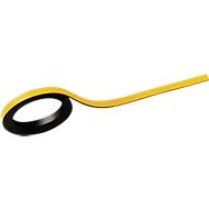 MAUL bandes magnétiques inscriptibles, L 1000 x l. 5 mm,jaune, lot de 2 pièces