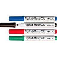 MAUL Flipchart-Marker Jumbo, farbsortiert, 4er-Set, Rundspitze