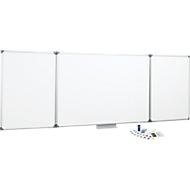 MAUL Klapptafel-Whiteboard, 2 Flügel, 1000 x 1200 mm, inklusive Starterkit