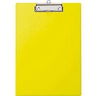 MAUL Klemmbrett, DIN A4, Karton/Polypropylen, mit Aufhängeöse, gelb