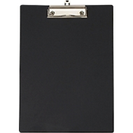 MAUL Klemmbrett, DIN A4, Kunststoff, mit Klarsichttasche, schwarz