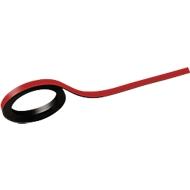MAUL magneetbanden, beschrijfbaar, 2 stuks, L 1000 x B 5 mm, rood