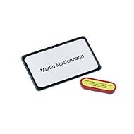 MAUL Magnetische naambadges, 40 x 75 mm, zwart, pak van 25 stuks