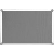 MAUL prikbord 2000, textiel, grijs, 600 x 900 mm
