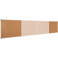 MAUL prikbord SET, kurk, Horizontaal formaat, 900 x 1200 mm
