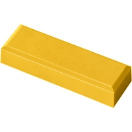 MAUL Rechteckmagnete, 53 x 18 x 10 mm, 20 Stück, gelb