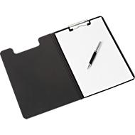 MAUL schrijfmap PP, A4, polypropyleen, clip-on clip met kunststof hoeken, zwart