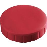 MAUL Solidmagnete, ø 20 x 7,5 mm, 10 Stück, rot