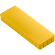 MAUL Solidmagnete, 54 x 19 mm, 10 Stück, gelb