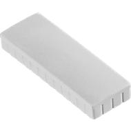 MAUL Solidmagnete, 54 x 19 mm, 10 Stück, weiß