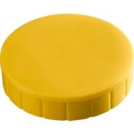 MAUL solidmagneten, Ø 20 x 7,5 mm, 10 stuks, geel