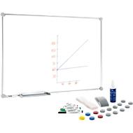 MAUL Whiteboard 2000 + 31teiliges Zubehör-Set, alusilber