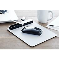 Mauspad Techpad, Kabelfach, 3 x USB 2.0 Hub + 1 x Micro USB Hub, inkl. Ladekabel, Werbedruck 60 x 15 mm, weiß