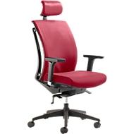 Mayer Bürostuhl ARTICHAIR, Synchronmechanik, mit Armlehnen, mit Kopfstütze, rot