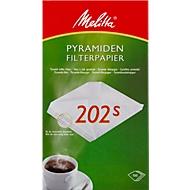 Melitta filtres à café pyramide en papier 202S, 100 pièces