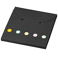 Memoblock Deluxe Accent, große Haftnotizen, 5 kleine Marker, schwarz