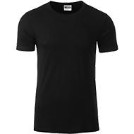 Men's Basic-T, Rundhals, 100 % Bio-Baumwolle, black, Gr. M