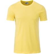 Men's Basic-T, Rundhals, 100 % Bio-Baumwolle, light-yellow, Gr. L