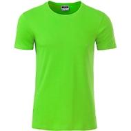 Men's Basic-T, Rundhals, 100 % Bio-Baumwolle, limegreen, Gr. XL