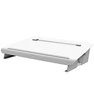 Metalen documenthouder en bureauonderlegger Fellowes Hana™, met accessoirelade, in hoogte en hoek verstelbaar, wit
