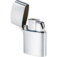 Metall-Feuerzeug Dallas, Verschlusskappe, Turboflamme, regulierbar, nachfüllbar