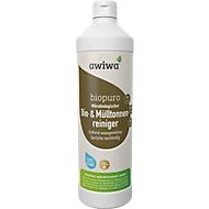 Microbiologische afvalbakkenreiniger awiwa® Biopuro, desodoriserend, met lavendelgeur, 1 l