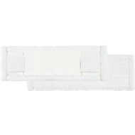 Microvezelmop Perfect White, breedte 400 mm, m. pockets en flappen
