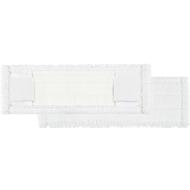 Microvezelmop Perfect White, breedte 400 mm, met flappen en pockets