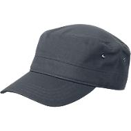 Military Cap, 100 % Baumwoll-Canvas, mit Klettverschluss, Werbefläche 60 x 20 mm, anthrazit