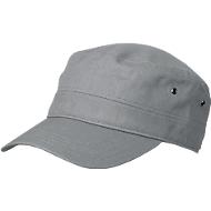 Military Cap, 100 % Baumwoll-Canvas, mit Klettverschluss, Werbefläche 60 x 20 mm, dark-grey
