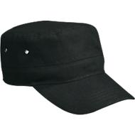 Military Cap, 100 % Baumwoll-Canvas, mit Klettverschluss, Werbefläche 60 x 20 mm, schwarz