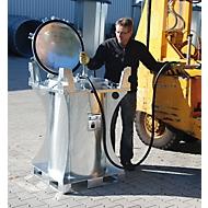 Mini-Tank BAUER MT 235, für Innen- und Außenbereich, abschließbar, inkl. Handpumpe, B 800 x T 800 x H 1250 mm