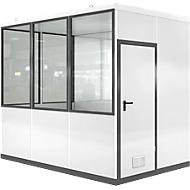 Mobiel ruimte-in-ruimtesysteem VSM, L 3045 x B 2045 mm, voor binnen, zonder vloer, grijswit RAL 9002/antr.grijs RAL 7016