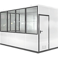 Mobiel ruimte-in-ruimtesysteem VSM, L 4045 x B 2045 mm, voor buitenopbouw, met vloer, grijswit RAL 9002/ anthr.grijs RAL 7016