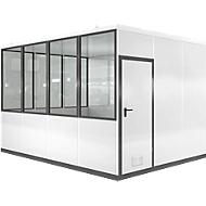 Mobiel ruimte-in-ruimtesysteem VSM, L 4090 x B 3045 mm, voor binnen, zonder vloer, grijswit RAL 9002/antr.grijs RAL 7016