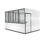 Mobiel ruimte-in-ruimtesysteem VSM, L 4090 x B 3045 mm, voor buitenopbouw, met vloer, grijswit RAL 9002/ anthr.grijs RAL 7016