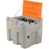 Mobiel tankstation CEMO DT-Mobil Easy Premium, Cematic 230 V elektrische pomp, dieseltank, 980 l, B 1270 x D 1070 x H 1120 mm