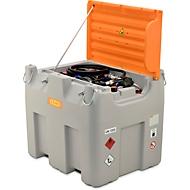 Mobiel tankstation CEMO DT-Mobil Easy Premium, Combi 850/100 l tank voor diesel en Adblue®, CematicDuo24/12 V elektrische pomp
